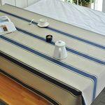 빈티지 스트라이프 린넨방수식탁보-네이비(2인110cm)