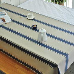 빈티지 스트라이프 린넨방수식탁보-네이비(2인140cm)
