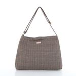 WOOL MAIL BAG HOUNDTOOTH BEIGE