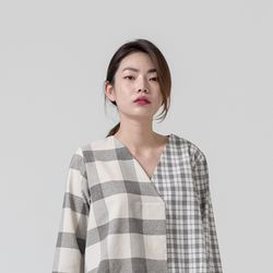 DOUBLE CHECK BLOUSE