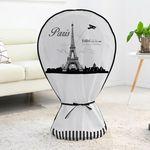다샵 지퍼식선풍기커버 에펠탑 그레이(부직포)