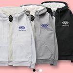 슈퍼레이티브 - CIRCLE LOGO 양털 후드집업 - 3컬러