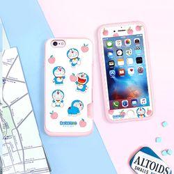 도라에몽 케이스 핑크 카드범퍼-복숭아 (아이폰7 8)