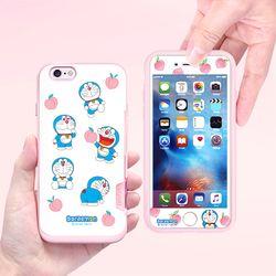 도라에몽 케이스 핑크 카드범퍼-복숭아(아이폰7+ 8+)