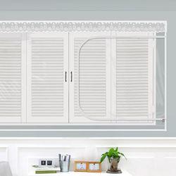 창문형지퍼식 방풍 바람막이 투명 120x100cm