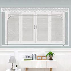 창문형지퍼식 방풍 바람막이 투명 200x165cm
