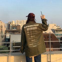 [스웨틀라나 착용]클로징 레터링 자켓 (jk562)