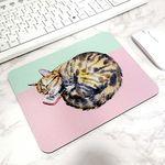 방바닥 고양이 일러스트 마우스패드 1. 자는고양