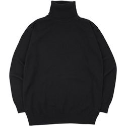 SOFT BASIC TURTLENECK KNIT BLACK