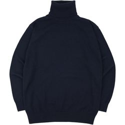 SOFT BASIC TURTLENECK KNIT NAVY