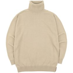 SOFT BASIC TURTLENECK KNIT BEIGE
