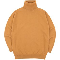 SOFT BASIC TURTLENECK KNIT D.MUSTARD