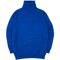 SOFT BASIC TURTLENECK KNIT COBALTBLUE