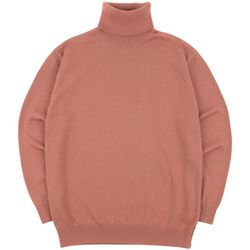 SOFT BASIC TURTLENECK KNIT DARKPINK