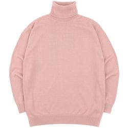 SOFT BASIC TURTLENECK KNIT PINK