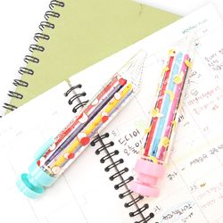 레인보우 8색 색연필