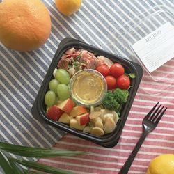 베이컨과 구운마늘 어린잎 샐러드 (160kcal)