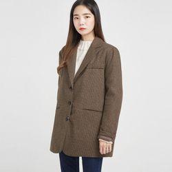 standard check wool napping jacket