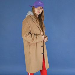 프리미엄 오버 싱글 코트 (beige)
