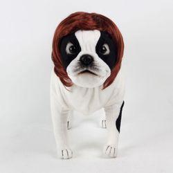 강아지 고양이 펫 가발 단발머리 (브라운)