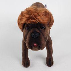 강아지 고양이 펫 가발 댄디컷 (골드브라운)