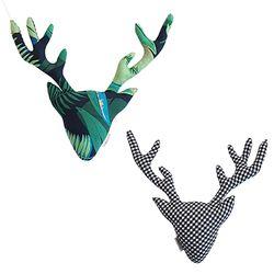 {패브릭 헌팅트로피}Deer Forest+black check (양면)
