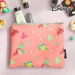[Disney] 프린세스 가죽 뷰티 파우치-인어공주 핑크