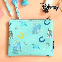 [Disney] 프린세스 가죽 뷰티 파우치-신데렐라 블루