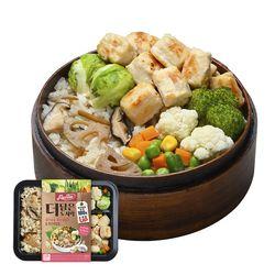 맛있닭 더담은 닭가슴살 도시락 큐브&연근우엉밥(5팩)