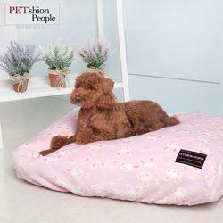 강아지 토끼방석커버(핑크)