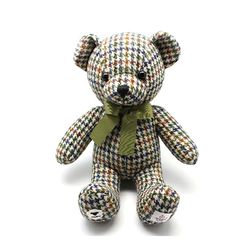 HARRIS TWEED TEDDY BEAR HOUND TOOTH