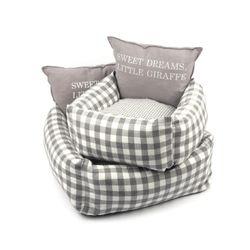 Cheez Check Cushion L Gray