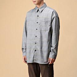 [매트블랙] 글렌 체크 오버 셔츠