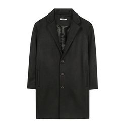 프리미엄 싱글 오버 코트 (black)