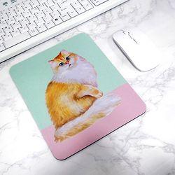방바닥 고양이 일러스트 마우스패드 4. 들킨 고양