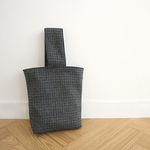 hound tooth check tote bag