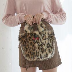 Mimi Leopard Fur Tote Bag