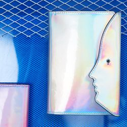 Hologram Passport Case (Silver)