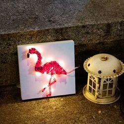 LED 꼬마 플라밍고 스트링아트 만들기 패키지 DIY