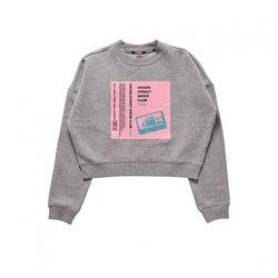 비젼스트릿웨어 크롭 스웨트 티셔츠 VISW305UN GRAY