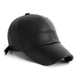 EX LEATHER CAP BLACK