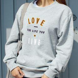 젤란 커플맨투맨 LOVE & LIVE (4색)