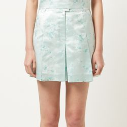 floral pattern silk shorts