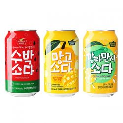 수박망고깔라만시 소다음료 24캔