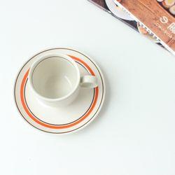 카네수즈 오렌지 커피잔 받침세트(165cc)