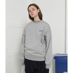 [L] Loner basic sweatshirt-gray(기모)