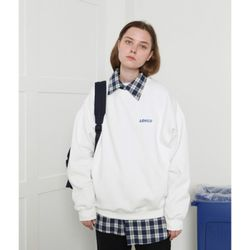 [L] Loner basic sweatshirt-white(노기모)