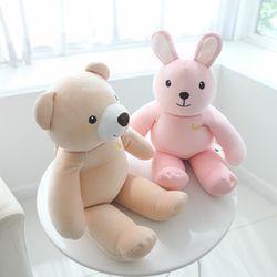 안전벨트 말랑말랑 애착인형(곰&토끼)