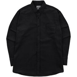 S.OVERSIZED CORDUROY 16W SHIRTS BLACK