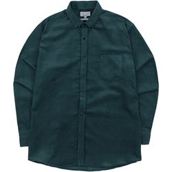 S.OVERSIZED CORDUROY 16W SHIRTS BLUEGREEN